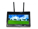 RX-LCD5802 5.8GHz 7'' LCD FPV Monitor 800*480 32CH Diversity Receiver, Battery
