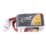 Tattu 850mAh 14.8V 75C 4S1P Lipo Battery, XT60
