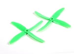 DYS 5040 x 4 5x4x4 Quad Blade Race Props 1 Pair ( GREEN )