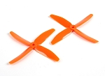 DYS 5040 x 4 5x4x4 Quad Blade Race Props 1 Pair ( ORANGE )