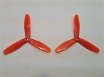 DYS 5050 x 3 5x5x3 Bull Nose Tri Blade Props 1 Pair ( ORANGE )