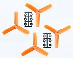 HQ 4x4x3 Set 2Cw&2Ccw (Orange)