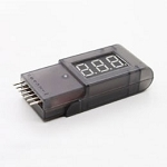 Digital Battery Voltage Checker Display 2-6s