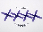 Team RaceKraft 4040x4 Race Prop 2CW 2CCW Clear Purple