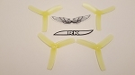 Team RaceKraft 4040x3 Race Prop 2CW 2CCW Clear Yellow