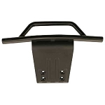 RPM Front Bumper & Skid Plate, Black: Slash