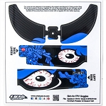 Upgrade RC Goggle Skins for Predator V2, VR110, Blue Eyes