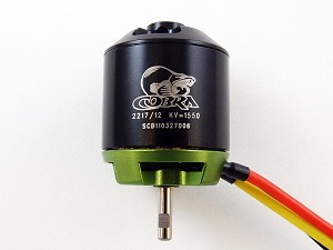 Cobra C-2217/12 Brushless Motor, Kv=1550