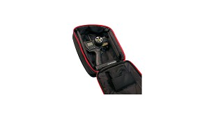 Atomik Pistol-Style Transmitter Bag, Black/Red