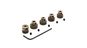 48P Pinion Gear Set: 17T, 18T, 19T, 20T, 21T