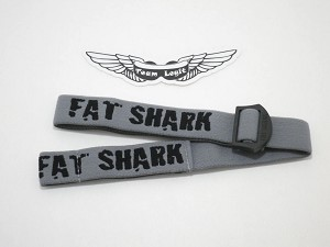 Fat Shark Grey Dominator Goggles Replacement Head Strap ( Dom HD & Dom HDV2 )
