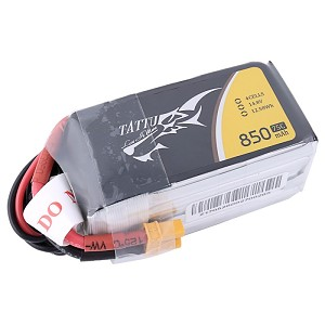 Tattu 850mAh 75C 4S1P Lipo Battery, XT30