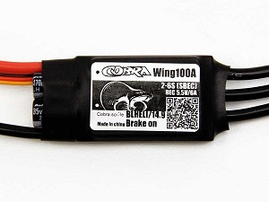 Cobra 100A Wing ESC with 6A Switching BEC