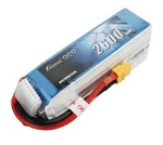 Gens Ace 2600mAh 6S 22.2V 45C Lipo Battery, XT60